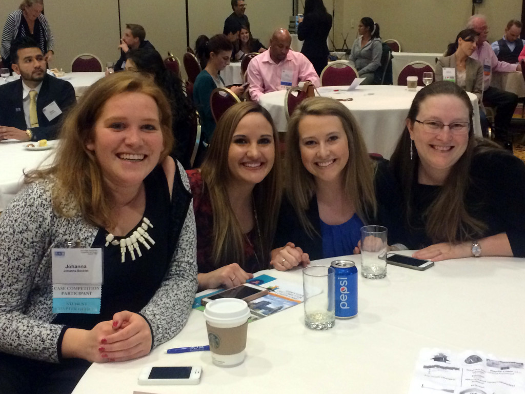 Johanna Bocklet, Laken Bordner, Jamie Boyle and Sara McBride recently took fourth place in a Society for Human Resource Management student competition in Utah.